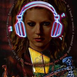 vikings lagertha headphones ifihadaheart viking vikingsthemesong feverray shieldmaiden warriorwoman warrior lagerthalothbrok lagartha lagerthainspired music freetoedit srcneonheadphones neonheadphones