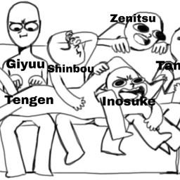 tengenuzui giyuutomioka shinobukochou zenitsuagatsuma inosukehashibira tanjiroukamado
