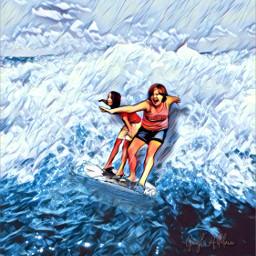 surfsup challenge ridingthewaves surfing girls fun summer hotweather ocean beach waves surfboard brianna briannanicholle briannaontheleft ircsurfsup freetoedit