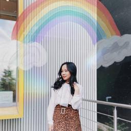 mokaenkhbayar rainbow colorful summer clouds freetoedit