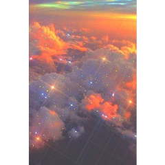 aesthetic clouds cloud cloudy shine glitter glitch orange sun sky rainbow cute beautiful love background backgrounds sticker stickers stars frame complex fundo galaxy tiktok freetoedit