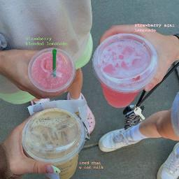 aesthetic asthetic aesthetics asthetics drinks starbucks summer crocs lemonade oatmilk strawberry açai