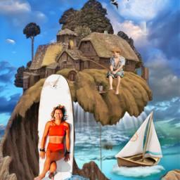 my surfboardchallenge fantasyart fantasyland surrealism ircsurfsup surfsup freetoedit