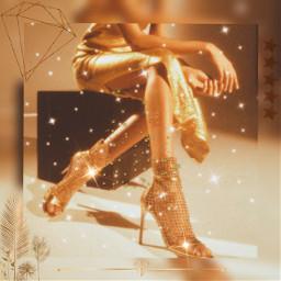 freetoedit legs girl$ the gold golden girl