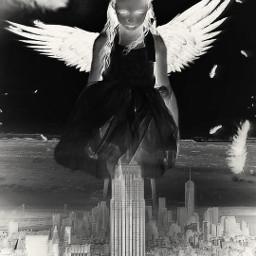 remixed angel neon protector guardianangel freetoedit