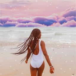 freetoedit cottoncandy sky skychange coconutgirl coconutgirlaesthetic sparkle beach summer