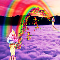 freetoedit picsart picsartchallenge challenge surreal heypicsart madewithpicsart makeawesome ownedit rainbow icecream rainbowicecream ecsummericecream summericecream