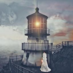 themagiclamp imageremixchallenge madewithpicsart imagination gradient doubleexposure faro lighthouse sea ocean lantern lensflare sunset ircthemagiclamp freetoedit