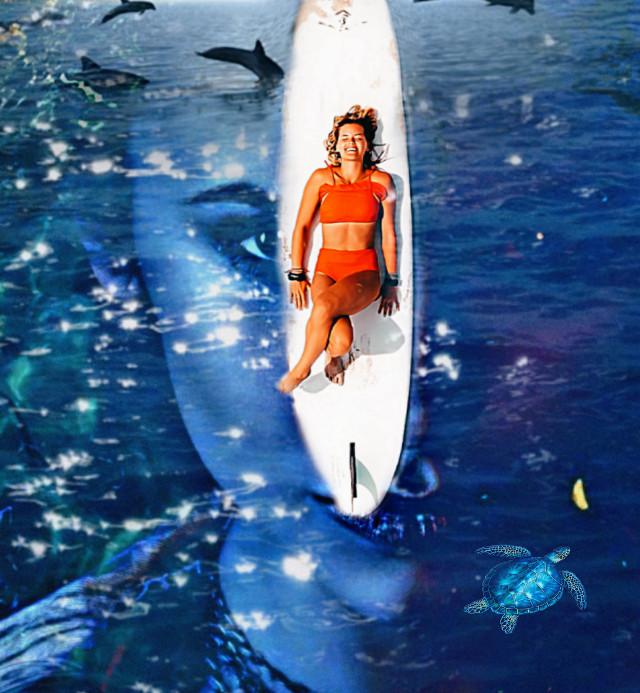 #ninadobrev #thevampirediaries #katherinepierce #water #dolphins #turtle