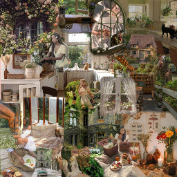 cottagecoremoodboard cottagecore aesthetic cottage core garden nature greencottagecore brown green castle house manor literature reading horse mushroom frog plants flowers trees grass outside