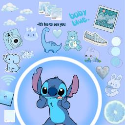 blue babyblue freetoedit