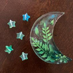 resin moon stars