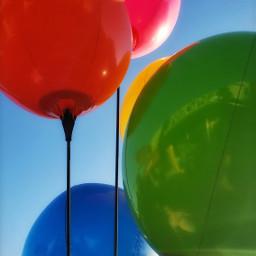 balloons colors happy