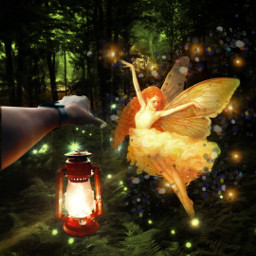 freetoedit makeawesome madewithpicsart howtoedit howtoeditphoto themagilamp fairy magiclamp lantern forest