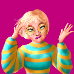 digitalart mydrawing funny girl illustration characterdesign colorful stripedsweater drawnbyme