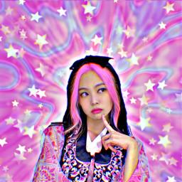 jennie blackpink stars rainbow pink black freetoedit