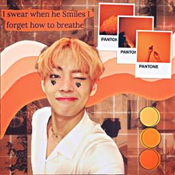 taehyung v orange bts summer freetoedit