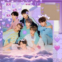 kpop bts bangtansonyeodan purple aesthetic cute btsedit kpopedit freetoedit minyoongi jhope namjoon jin jungkook taehyung jimin