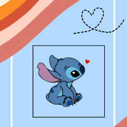 stich blue heart colors follow freetoedit