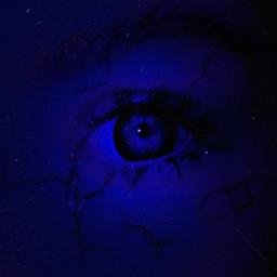 freetoedit eye sadly blue cry🌌💤👁️ cry
