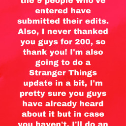 bestfollowersever contestupdate strangerthings update