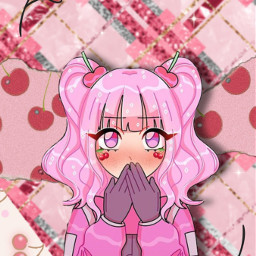 cherry girl cherrygirl background backgrounds wallpaper wallpapers raainbowlady cute kawaii aesthetic freetoedit