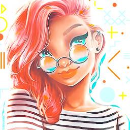geometricshapes stickerrequests madewithpicsart girl sunglasses overlay srcgeometricshapes freetoedit