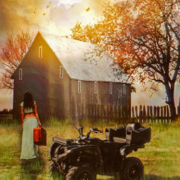 mirpar02 instagram instagramchallenge farm fourwheeler woman sunset notfreetoedit