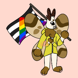 originalart digitalart notmyoc ych pride pridemonth pride2021 ally moth