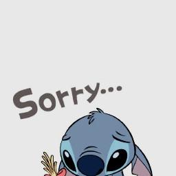 stitch sorry disney pixar disneyland wallpaper aesthetic 4k tumblr azul gris blue grey freetoedit