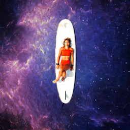 remixit galaxy surf surfergirl surfboard summer freetoedit