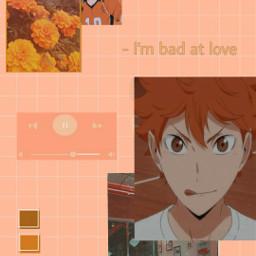 freetoedit hinatashouyou hinatashoyo haikyuu anime animeboy aestheticwallpaper peach