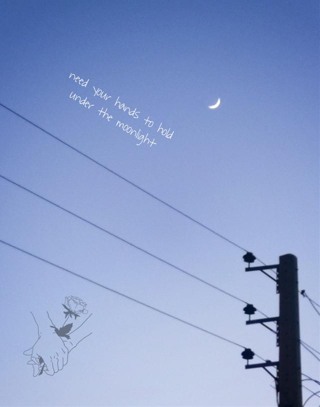 #moon #photography #edit #picsart #sky #dark #night #holdinghands