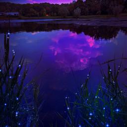 fantasy background mountains lake fluorescente fluorescent flowers darkblue purple pink paisaje fantasia morado rosa flores lago myedit gaby298 remixed freetoedit