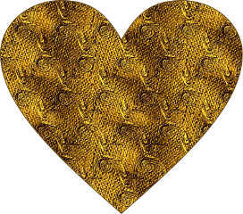 sfghandmade heart sticker heartsticker goldsticker woven fabricheart goldenheart picsarteffects freetoedit