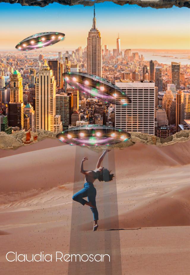 @claudiaremosan #desafio #challenge #dancandonodeserto #dancinginthedesert #cidade #downtown #ovnis #bailarina #deserto