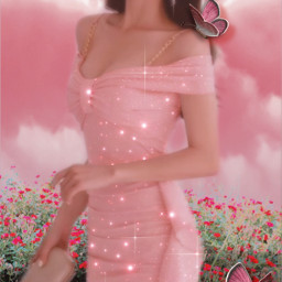 replay chica coreana cute rosa flores brillos mariposas glitter sparkles korean koreangirl pink clouds flowers butterflies pinkaesthetic remixed freetoedit