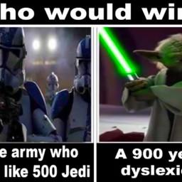 starwars clobe yoda jedi executeorder66 order66 lightsaber frog dyslexic army funny meme starwarsmeme