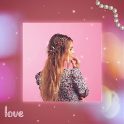 pink girl aesthetic pinkaesthetic square love pearl hairstyle blonde brusheffect