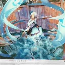 cosplay picsart ghost blue genshininpact anime freetoedit
