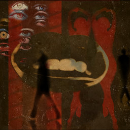 abstract womansilhouette retro mouth eyes freetoedit