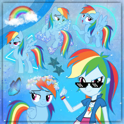 mylittlepony mlp mlpfim mlpeg mlpeqg rainbowdash mlprainbowdash eqg equestriagirls srcblacksunglasses blacksunglasses freetoedit