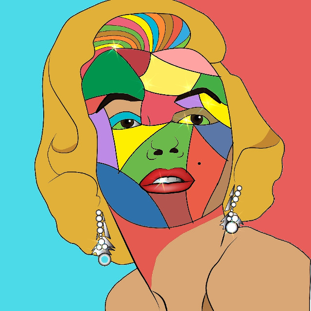 #wpap #face #colorful ❤💛💚💙💜 #marilynmonroe