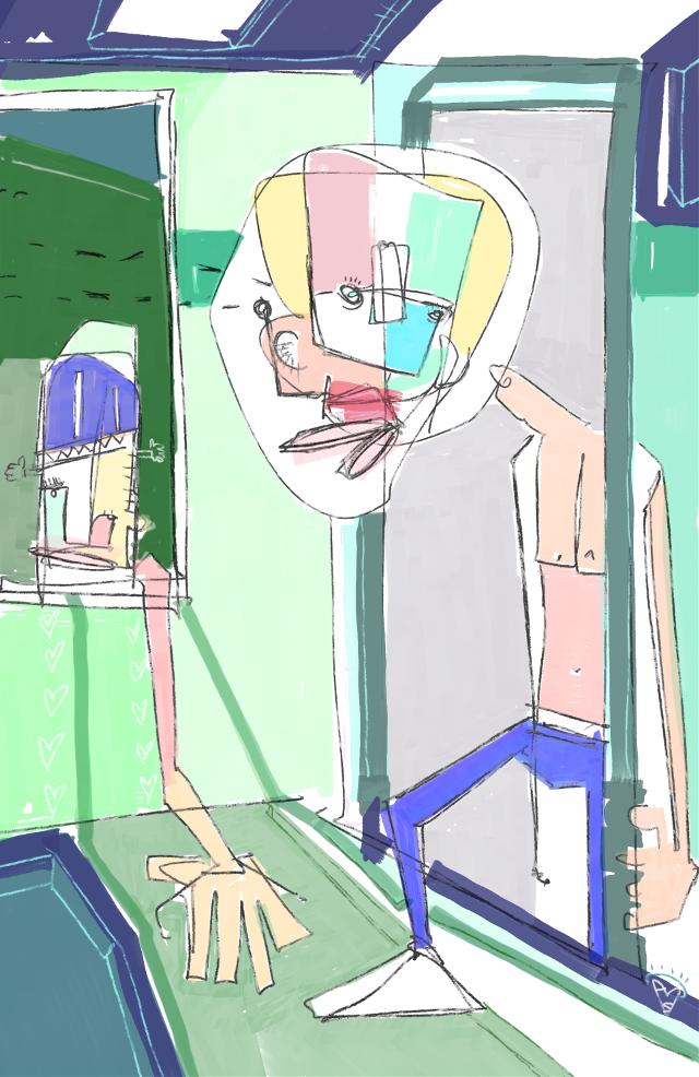 """""""Screen Door Whimsy"""" #art #artist #sonnyleel #sonnythesaint"""