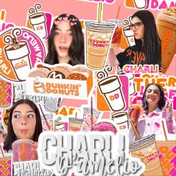 charli charidamelio char dunkin chqrs_coffeess freetoedit