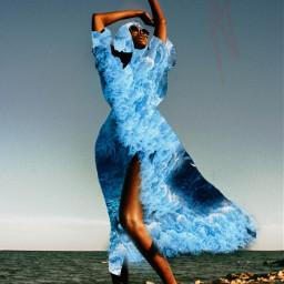 picsart madewithpicsart girl woman ocean surreal summer nature