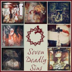 sevendeadlysins. myedits deadlysins sin collage religion sevendeadlysins
