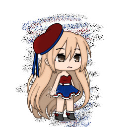 dots edit gacha gachatiktok blue red black white neon hair long whydowehavetoaddahashtag ihavetoaddahashtag