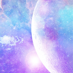 space fantasy mystical cool galaxy stars planets moon pastel sparkle freetoedit
