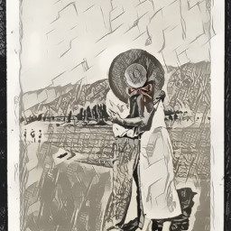 blackandwhite hat vintagecouple ircdesignthesunhat designthesunhat freetoedit